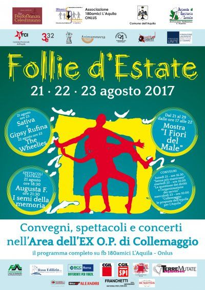 L'Aquila 21-23 agosto 2017 Torna Follie d'estate