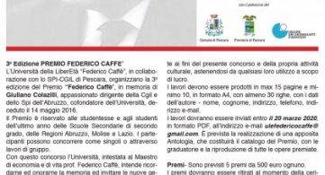 Premio Federico Caffè, cinque assegni da 500 euro per i diplomandi