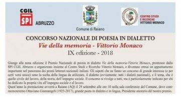 Premio nazionale di poesia dialettale Vittorio Monaco: i finalisti