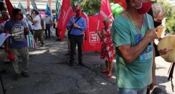 Pescara 23 luglio 2020: il presidio davanti all'Assessorato alla sanità della Regione Abruzzo