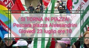 Si torna in piazza! Spi Cgil Fnp Cisl Uilp Uil: 23 luglio mobilitazione di protesta contro la Regione Abruzzo