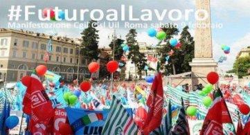 #FuturoalLavoro Cgil Cisl Uil manifestano il 9 febbraio a Roma