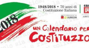 1948-2018 La Costituzione raccontata dai bambini in un Calendario