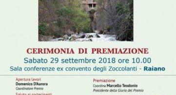 Raiano (AQ) 29 settembre 2018 IX Edizione Vie della memoria: cerimonia di premiazione