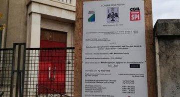 Donazione Spi Cgil: a L'Aquila inizia recupero ex asilo viale Duca degli Abruzzi