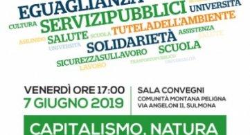 Capitalismo, natura, lavoro. La Lega Spi e la Fillea Cgil organizzano conferenza a Sulmona