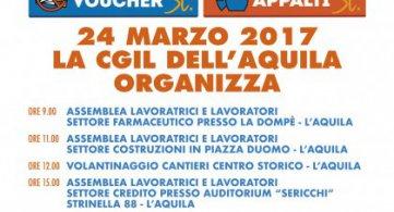L'Aquila 24 marzo 2017 Referendum le iniziative con Nino Baseotto: rassegna stampa
