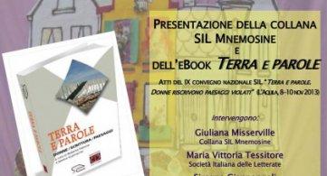 L'Aquila Casa delle Donne 9 novembre 2016: Presentazione e-book SIL Terra e parole