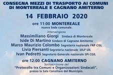 Montereale e Cagnano (AQ): cerimonia pubblica consegna mezzi trasporto
